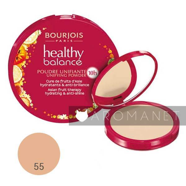 Bourjois Healthy Balance Asian Fruit Hydrating Therapy Anti-shine - Compact Powder 55 Beige Fonce