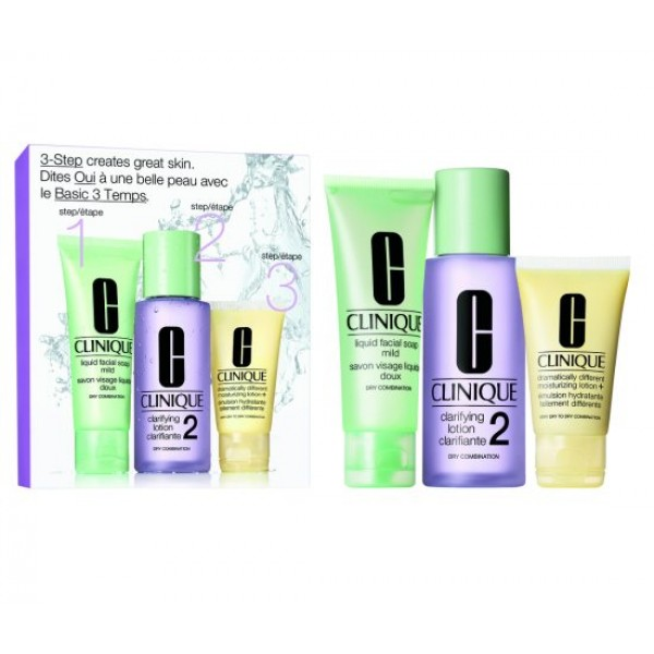 Clinique 3 Step Skin Care Set 2 Ii -  180ml