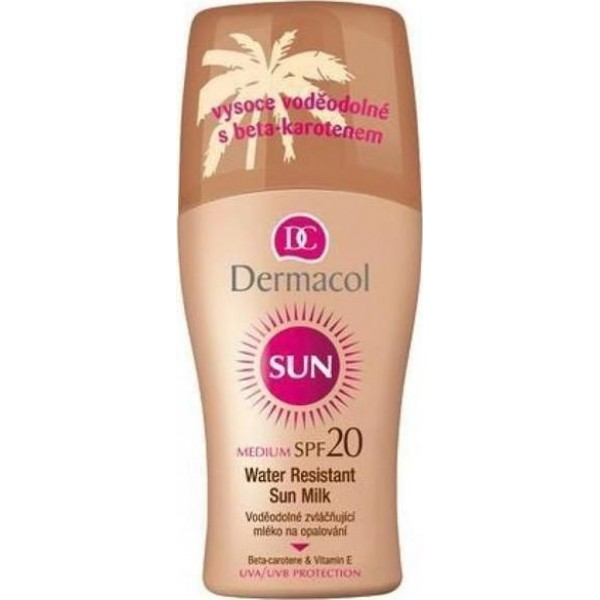 Dermacol Sun Water Resistant Sun Milk SPF 20 - Waterproof moisturizing lotion 200ml