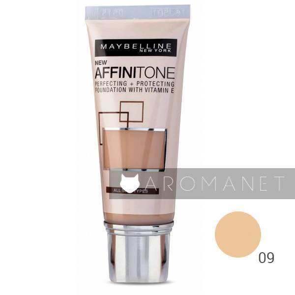 Maybelline Affinitone + Protectingr Perfectingr Foundation With Vitamin E 30ml 09 Opal Rose