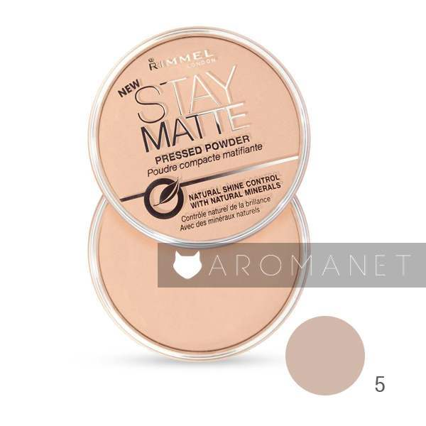 Rimmel Stay Matte - Matte Pressed Powder 14 g Shade 005 Silky Beige