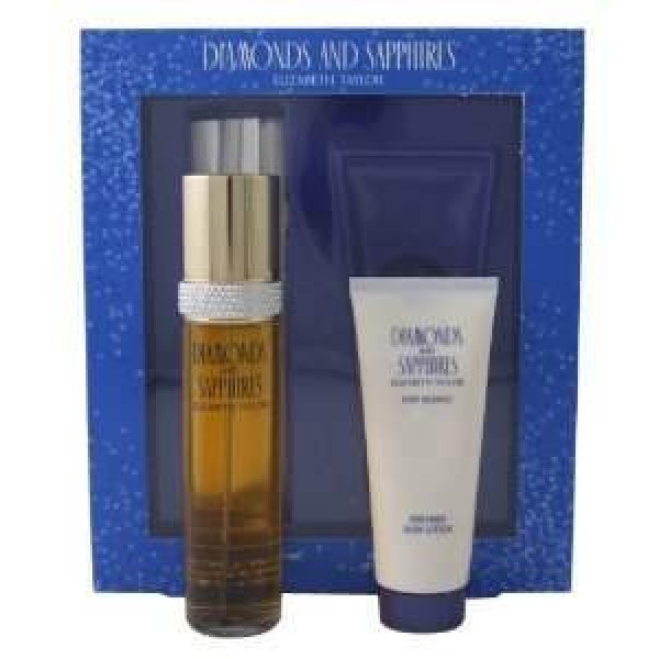 Elizabeth Taylor Diamonds And Saphires 100ml Edt / Body Lotion 100ml