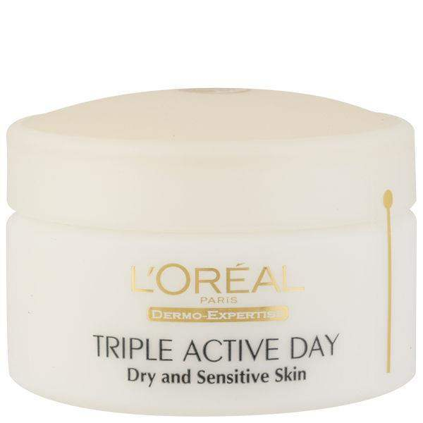 L´oreal Daily Moisturizing Cream For Dry And Sensitive Skin (Triple Active) 50ml