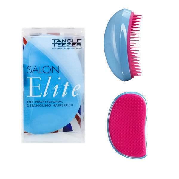 Tangle Teezer Elite Salon - Professional Hair Brush Blue-pink