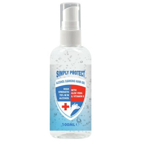 Simply Protect Alcohol Cleansing Hand Gel 100ml