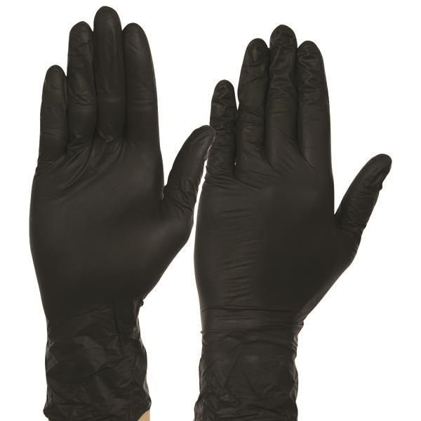 Nitrile Black Gloves x100