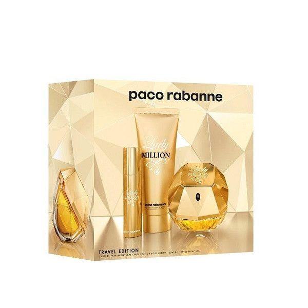 PACO RABANNE Lady Million EDP 80 ml / body lotion 75 ml / miniature EDP 10 ml