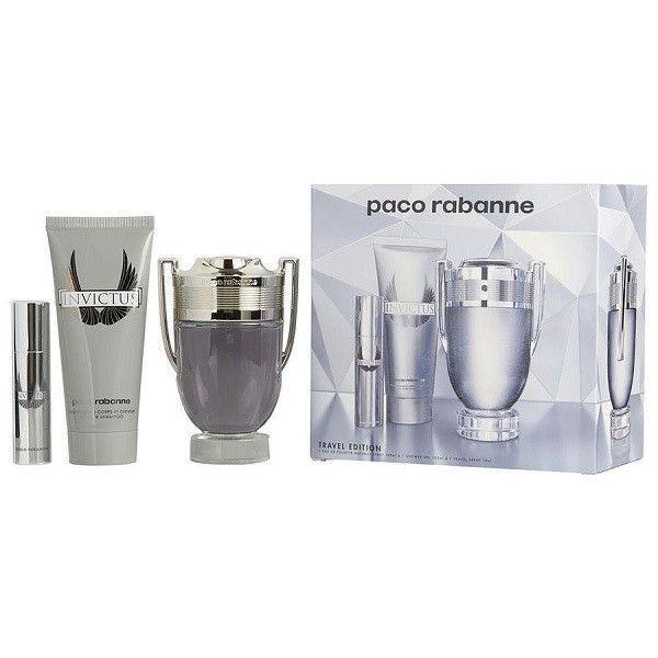 PACO RABANNE Invictus EDT 100 ml / shower gel 75 ml / miniature EDT 10 ml