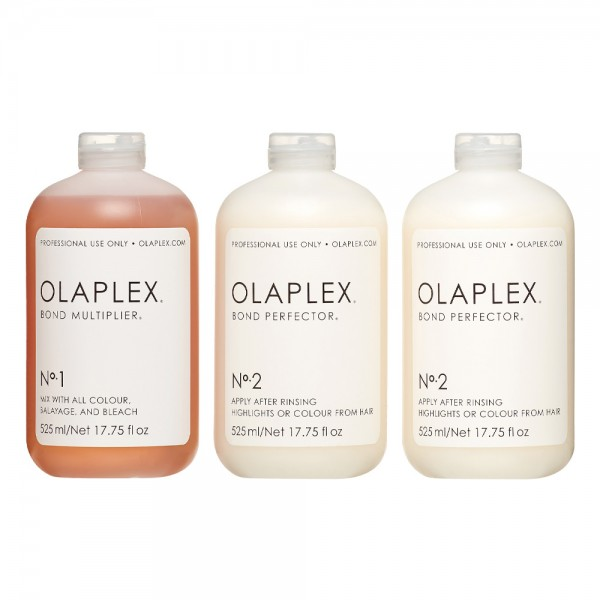 Olaplex Salon Intro Kit No 1 Bond Multiplier 525ml - No 2 Bond Perfector 2 x 525ml