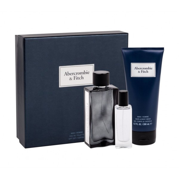 Abercrombie and Fitch First Instinct Blue EDT 100 ml / EDT 15 ml / Shower gel 200 ml