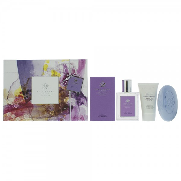 Acca Kappa Glicine Wisteria Edp 100ml - Soap 150G - Hand Cream 75ml