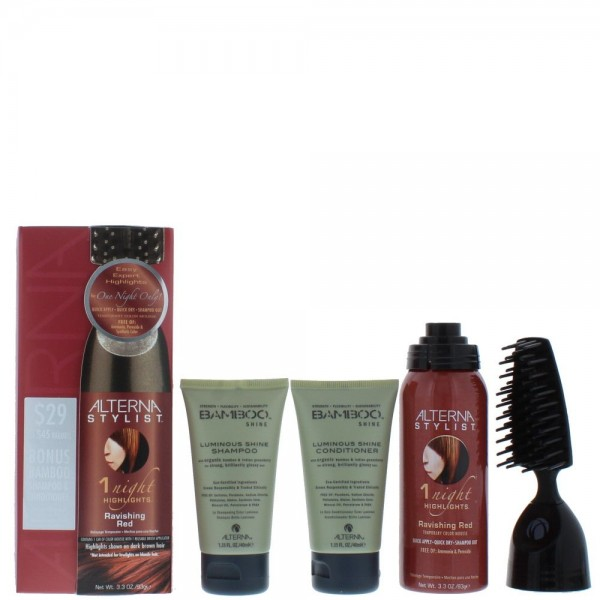 Alterna One Night Only Red Ravishing Red Highlights Temporary Color Mousse 93g / Shampoo 40ml / Conditioner 40ml / Applicator