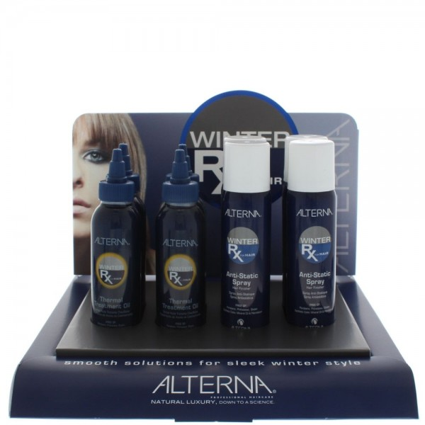 Alterna Winter Rx Display - Anti Staticay 92Gm X 4 / Thermal Treatment Oil x 4