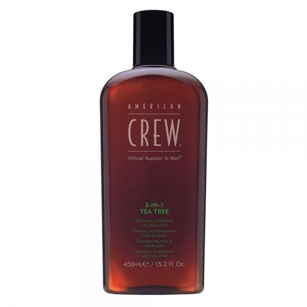 American Crew 3in1 tea tree Shampoo, Conditioner & Body Wash 450ml