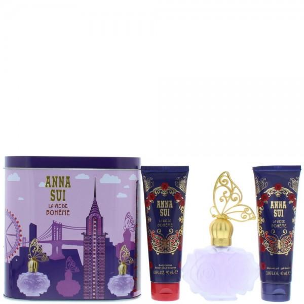 Anna Sui La Vie De Boheme Edt 50ml / Body Lotion 100ml / Shower Gel 100ml / Music Box