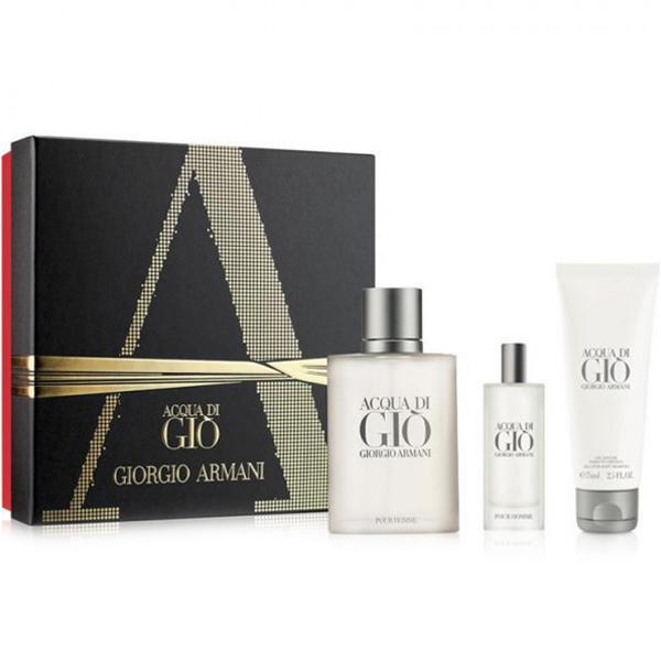 ARMANI Acqua di Gio Man EDT 100 ml / EDT 15 ml / Shower Gel 75 ml