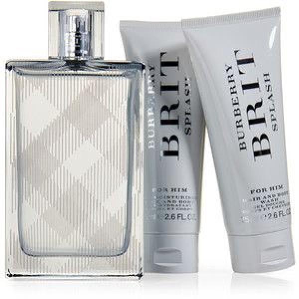 BURBERRY Brit Splash for Men EDT 100 ml / lotion 75 ml / hair and body shower gel 50 ml