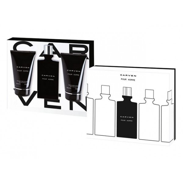 Carven Pour Homme Edt 100ml / Aftershave Balm 100ml / Showerg Gel 100ml
