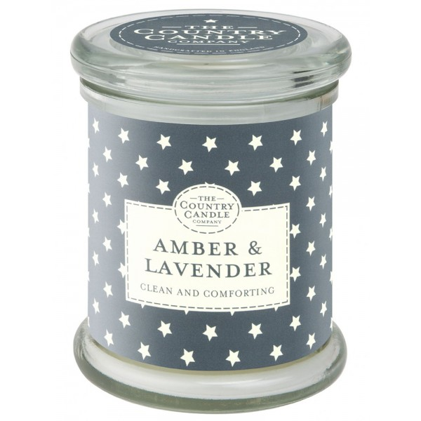 Country Candle Amber & Lavender - Scented Candle in a Glass Dose 630.0g