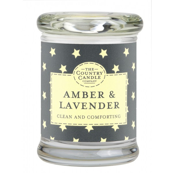 Country Candle Amber & Lavender - Scented Candle in Glass with Lid 848.0g
