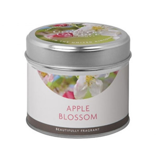 Country Candle Apple Blossom - Rustic Scented Candle in Tin 231.0g