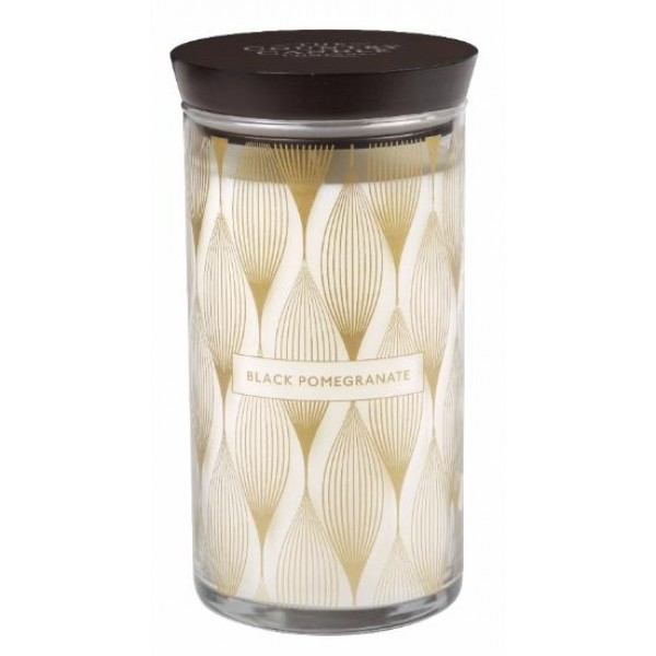Country Candle Black Pomegranate - Scented Candle in Glass Dose 930.0g