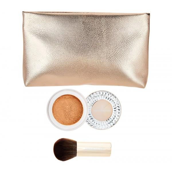Bare Minerals Deluxe Kit Original Foundation light Beige / Kabuki Brush / Bag