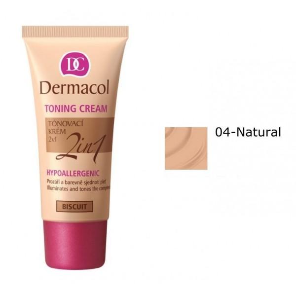 Dermacol Toning Cream 2 in 1 - Toning Cream 30 ml Natural