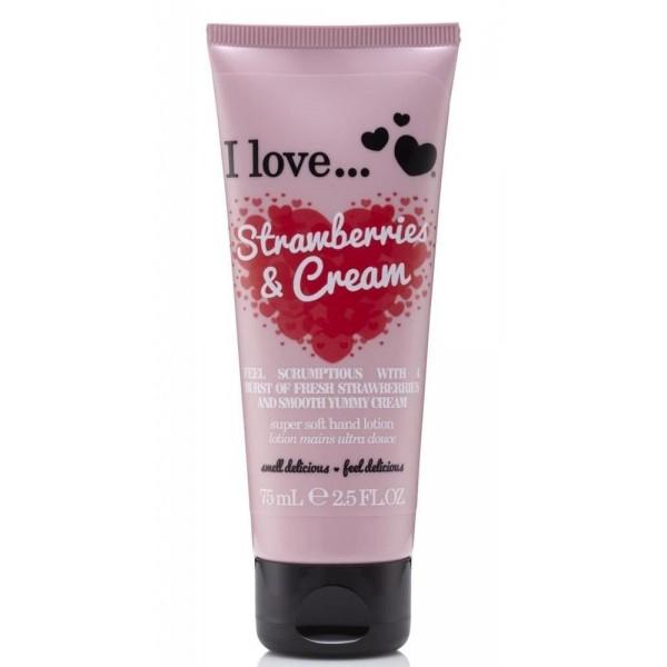 I love Strawberries & Cream Super Soft Hand Lotion 75ml
