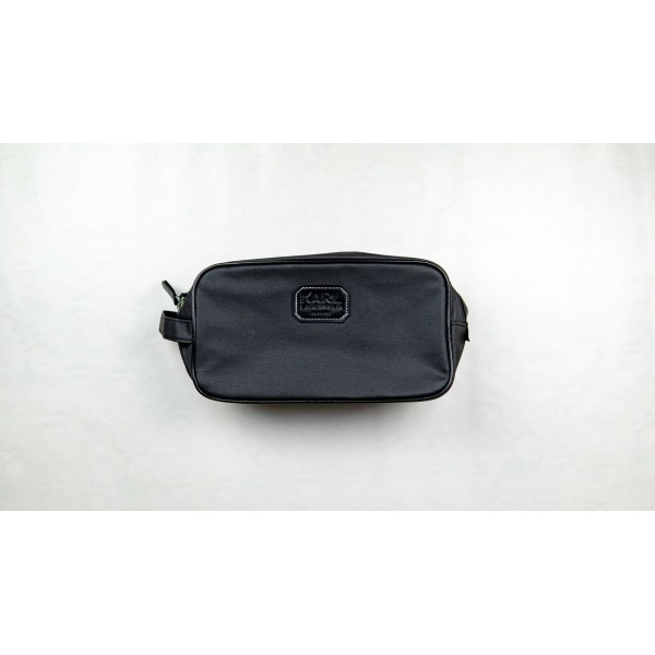 Karl Lagerfeld Mens Black Toiletry Bag
