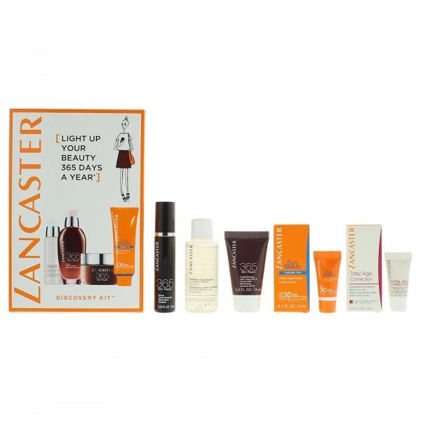 Lancaster Cleanser 30ml / Serum 10ml / Day Cream 15ml / Retinol-in-Oil 3ml / Sun Beauty Velvet Touch 3ml