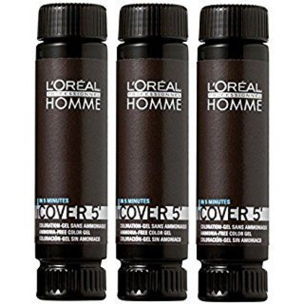 Loreal Professionnel Homme Cover 5 Gel Hair Color For Men 3 x 50ml 7 medium blond