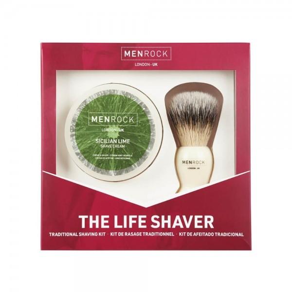 Men-Rock The Life Shaver Sicilian Lime & Caffeine Shaving Cream 100.0g / Brush