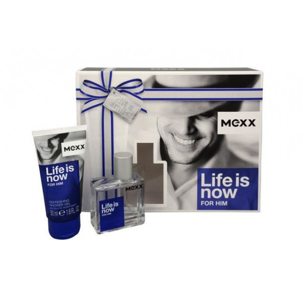 MEXX Life is Now for Him EDT 30 ml / shower gel 50 ml