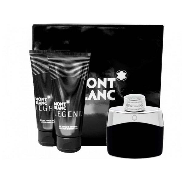 Mont Blanc Legend 100 ml EDT / shower gel 100 ml / aftershave balm 100 ml