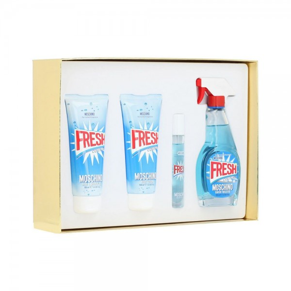 MOSCHINO Fresh Couture EDT 100 ml / miniature EDT 10 ml / shower gel 100 ml / body lotion 100 ml