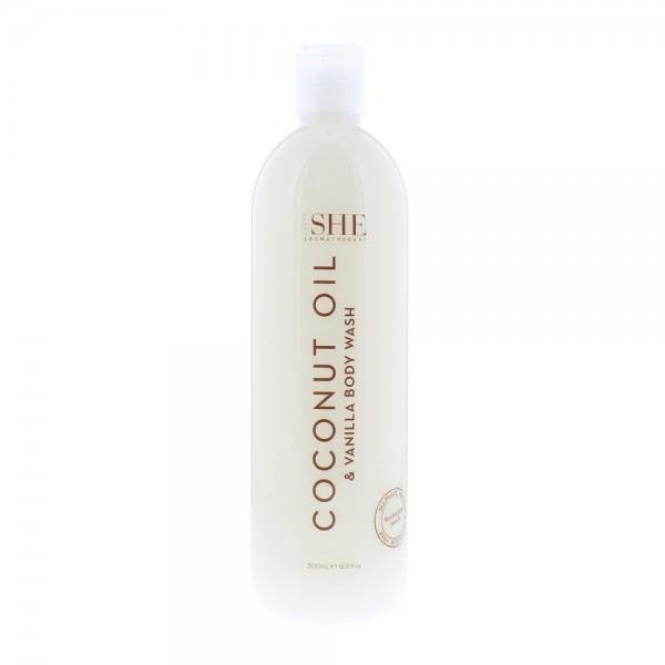 Om She Coconut Oil Body Wash Coconut & Vanilla 500ml