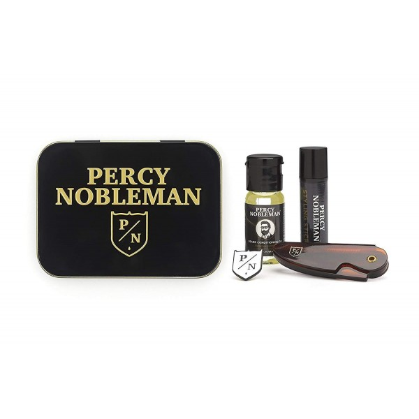 Percy-nobleman Beard Oil 10ml / Styling Stick 5ml / Folding Beard Comb / Pin Badge