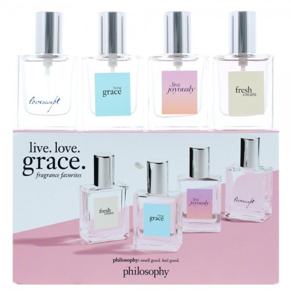 Philosophy Joyously Edp 15ml / Living Grace Edt 15ml / Loveswept Edt 15ml / Fresh Cream 15ml