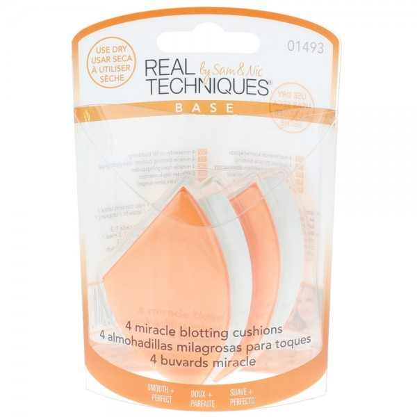 Real Techniques 4 X Miracle Blotting Cushions 01493