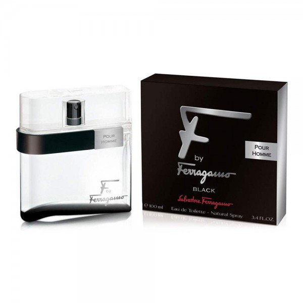 Salvatore Ferragamo F By Ferragamo Pour Homme Black Edt 100ml