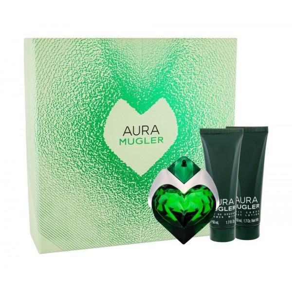 THIERRY MUGLER Aura EDP 30 ml / shower milk 50ml / body lotion 50ml