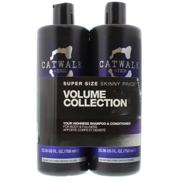 Tigi Catwalk Your Highness Duo Shampoo 750ml / Conditioner 750ml