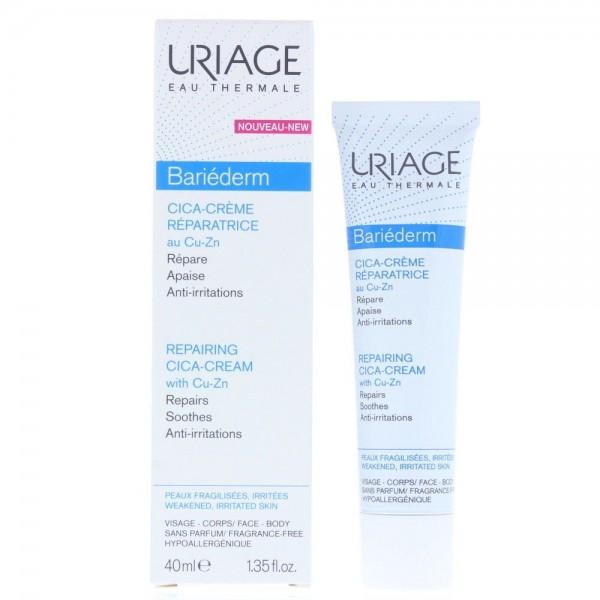 Uriage Bariederm Cica Repairing Cream 40ml With Cu-Zn