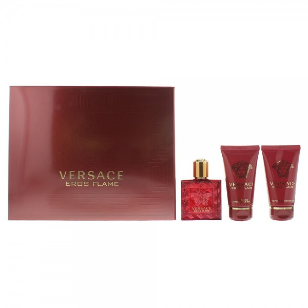 Versace Eros Flame EDP 50ml / Shower Gel 50ml / Aftershave Balm 50ml