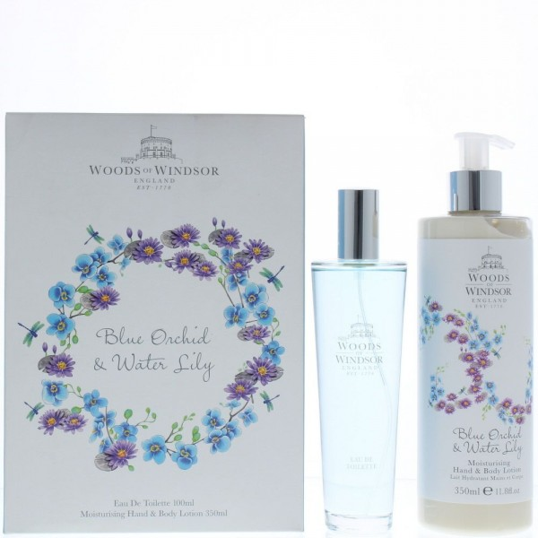 Woods Of Windsor Blue Orchid & Water Lily Edt 100ml / Body lotion 350ml