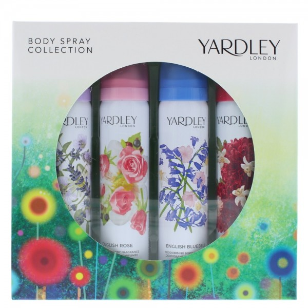 Yardley Body Collection 75ml X 4 Lavender / Rose / Bluebell / Dahlia