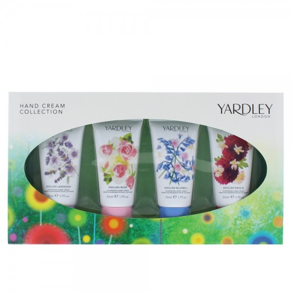 Yardley Hand Cream Collection 50ml X 4 Lavender & Rose & Dahlia & Bluebell