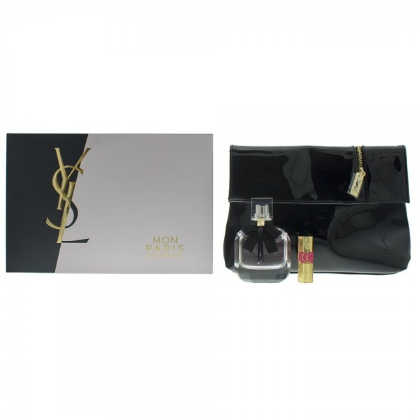 Ysl Mon Paris Edp 50ml / Volupte Mini Lipstick 1.3ml / Pouch